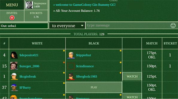 how to play gin rummy with four people
